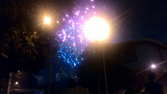 New Year Fireworkd at KLCC Park